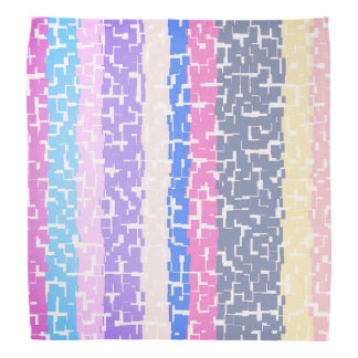 Multicolor Yellow/Gray/Beige/Pink/Purple/Blue Bandana