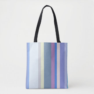 Multicolor Yellow/Gray/Beige/Pink/Purple/Blue Tote Bag