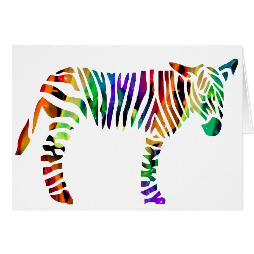MULTICOLOR ZEBRA PRODUCTS CARD