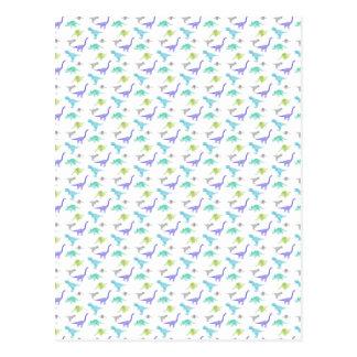 MulticolorDinosBig Postcard