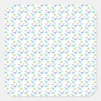MulticolorDinosBig Square Sticker
