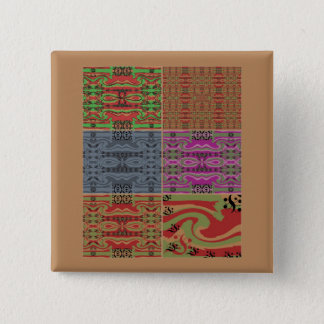 MultiColored Abstract 15 Cm Square Badge