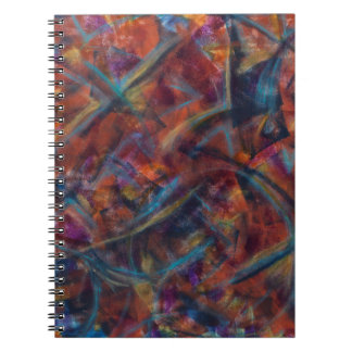 Multicolored Abstract Art Notebook