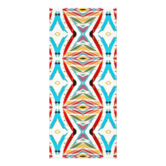 Multicolored Abstract Chains. Geometric Pattern Rack Card Design