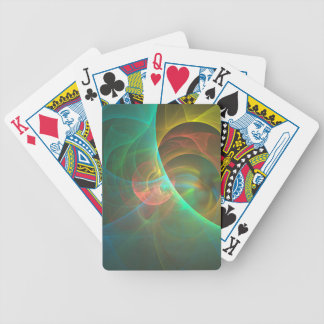 Multicolored abstract fractal bicycle playing cards