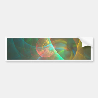 Multicolored abstract fractal bumper sticker