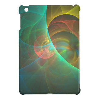 Multicolored abstract fractal iPad mini cases