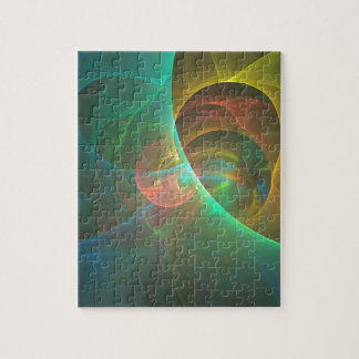 Multicolored abstract fractal jigsaw puzzle