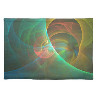 Multicolored abstract fractal placemat