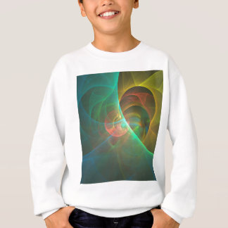 Multicolored abstract fractal sweatshirt