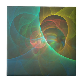 Multicolored abstract fractal tile