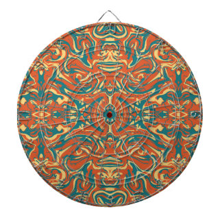Multicolored Abstract Ornate Pattern Dartboard