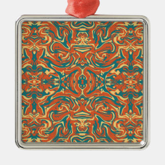 Multicolored Abstract Ornate Pattern Metal Ornament