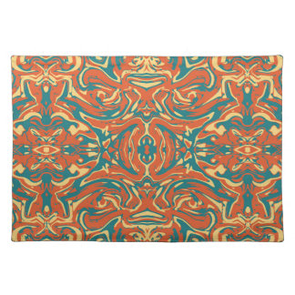 Multicolored Abstract Ornate Pattern Placemat