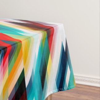 Multicolored Abstract Pattern Tablecloth