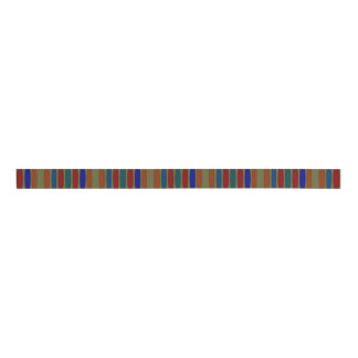 Multicolored Abstract Striped Ribbon Grosgrain Ribbon