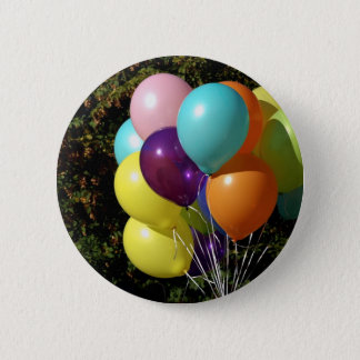 Multicolored ballons 6 cm round badge