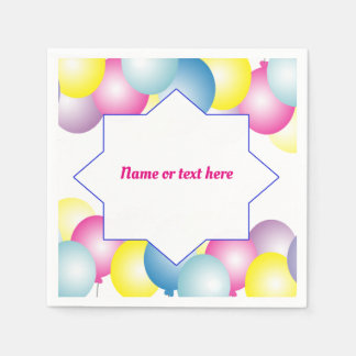 Multicolored balloon Birthday party themed Disposable Serviette