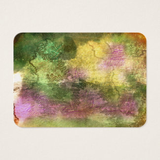 Multicolored bark with insect trails business card