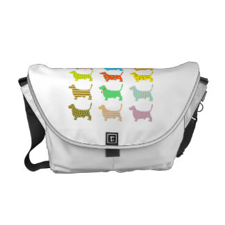 Multicolored basset bag courier bags