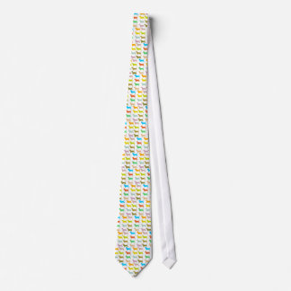 Multicolored basset tie