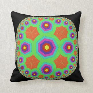 multicolored black pillow