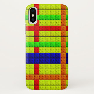 Multicolored blocks pattern iPhone x case