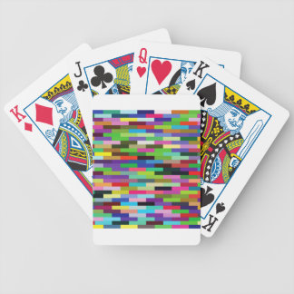 multicolored bricks bicycle playing cards