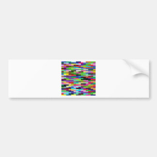 multicolored bricks bumper sticker