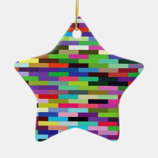 multicolored bricks ceramic ornament