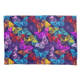 Multicolored Butterflies Pattern Pillowcase