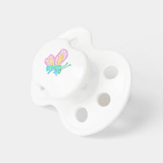 Multicolored butterfly baby pacifiers