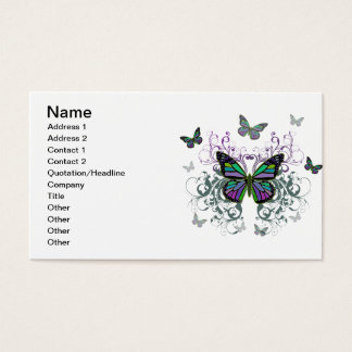 Multicolored Butterfly Business Card