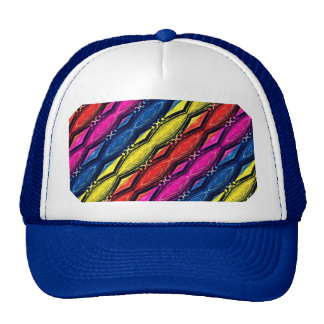 Multicolored Chains Pattern. Artistic Design Cap