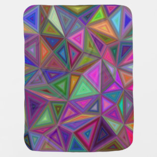 Multicolored chaotic triangles buggy blanket