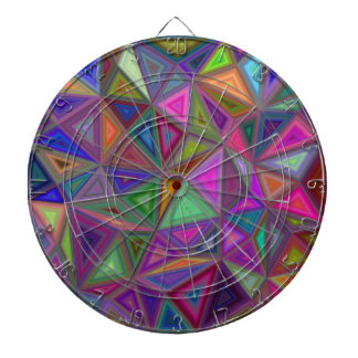 Multicolored chaotic triangles dartboard