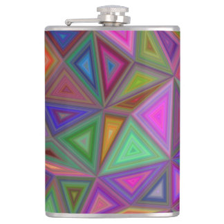 Multicolored chaotic triangles hip flask