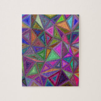 Multicolored chaotic triangles jigsaw puzzle