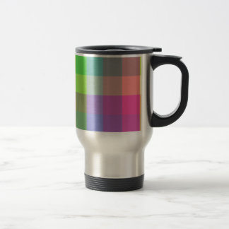 Multicolored Checker Design Travel Mug