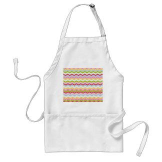 Multicolored chevron zigzag adult apron