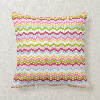Multicolored chevron zigzag cushion
