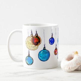 Multicolored Christmas balls Coffee Mug