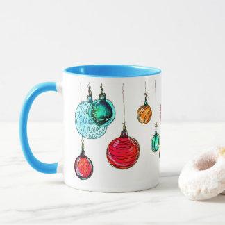 Multicolored Christmas balls Mug