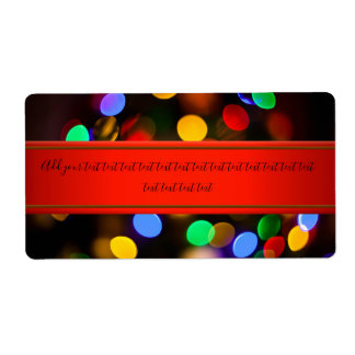 Multicolored Christmas lights. Add text.