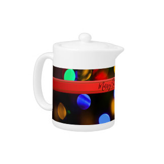 Multicolored Christmas lights. Add text or name.