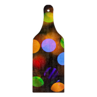Multicolored Christmas lights. Cutting Board
