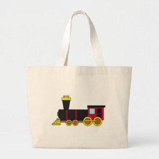Multicolored Classic Train Locomotive Steam Engine Tote Bags