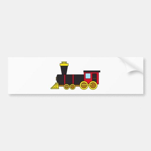 Multicolored Classic Train/Locomotive/Steam Engine Bumper Stickers