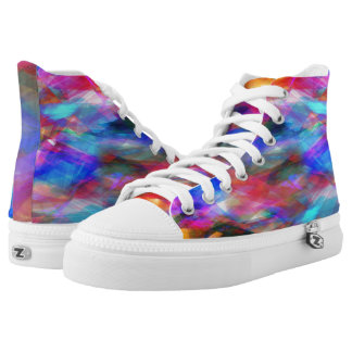 Multicolored Collage Printed Shoes