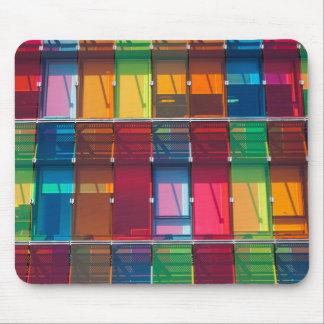 Multicolored commercial building detail mousepad